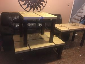 Coffee table end table sofa table three-piece $200 for Sale in Philadelphia, PA