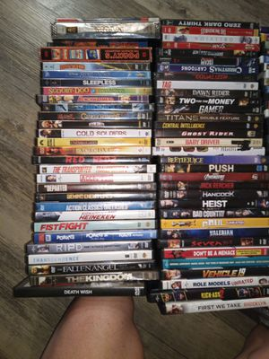 90+ dvds also 10 blu-ray for Sale in Fort Worth, TX