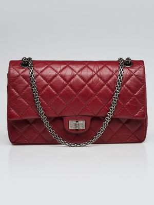 CHANEL Red 2.55 Reissue Quilted Classic Leather 226 Flap Bag for Sale in San Francisco, CA