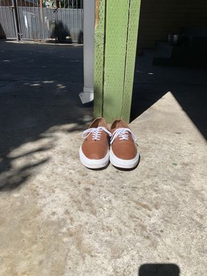 Vans Authentic Decon Shoes Premium Leather Tortoise Shell Brown for Sale in Los Angeles, CA