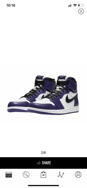 Air Jordan 1 high OG White Purple for Sale in Las Vegas, NV