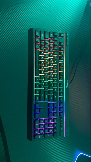Rgb hyper x membrane key board used in good condition for Sale in Arlington, TX