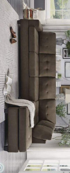Maston chocolate sectional sofa for Sale in Houston, TX