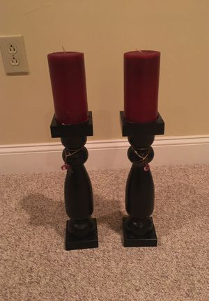 Pair of candle holders 15 inches high for Sale in Bowie, MD