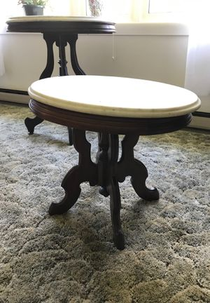 Antique oval marble top end table for Sale in Charles Town, WV