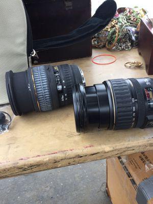 Vendó lentes para cámara Canon en cien estado for Sale in Avocado Heights, CA