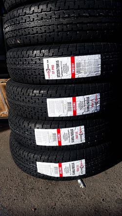 st225 75r15 4new tires trailer 10ply$260 for Sale in Escondido,  CA