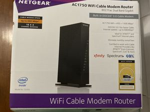 AC 1750 WiFi Cable Modem Router for Sale in Mableton, GA