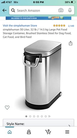 Simple Human large pet food containers for Sale in Chicago, IL