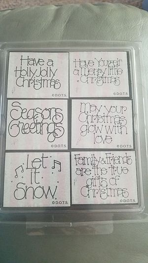 DOTS rubber stamps pack of 6 Christmas theme for Sale in Clearwater, FL