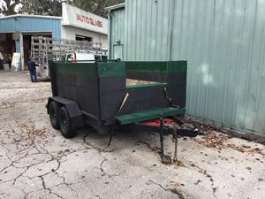 Trailer 6x9 dual axle new tires removable tailgate for Sale in Jacksonville, FL