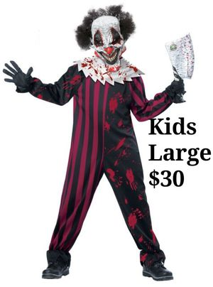 Kids killer clown costume for Sale in Long Beach, CA