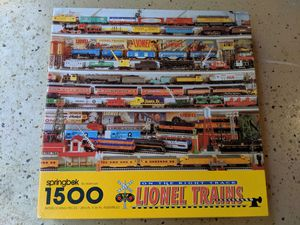 Puzzle 1500 pieces - Lionel Trains: On the Right Track (Springbok) for Sale in Garland, TX