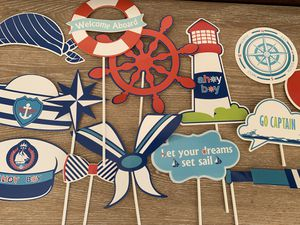 Photo booth props. Nautical photo booth props. for Sale in Homestead, FL