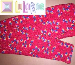 LuLaRoe TC Leggings Red Kites for Sale in East Peoria, IL