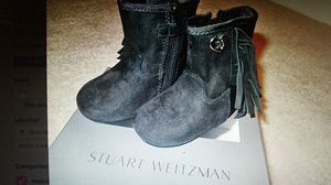 NEW Stuart Weitzman Girls Black Boots (6-9 months) for Sale in Rockville, MD