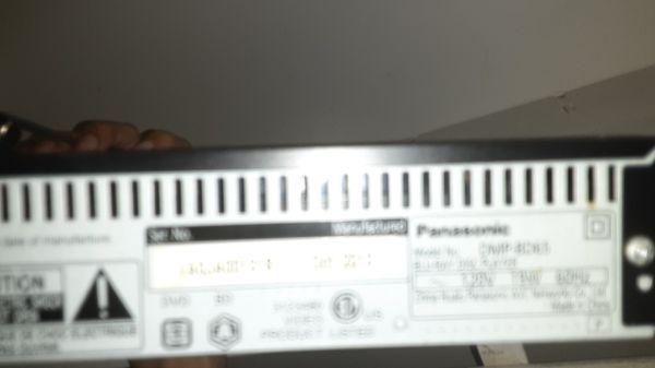 Panasonic blue ray DVD play