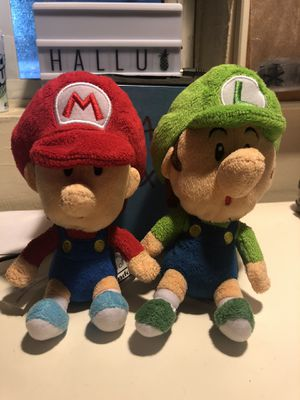 Baby Mario and Luigi Plushies for Sale in Los Angeles, CA