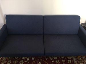 Sofa / Futon Blue Great Condition for Sale in Secaucus, NJ