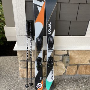 Volkl Gotama JR, size 118 w/ Marker Free Bindings & Scott Poles for Sale in Renton, WA