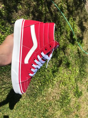 High skool vans red size 5.5 for Sale in Sacramento, CA