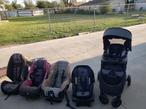 Car seats and stroller for Sale in San Angelo, TX