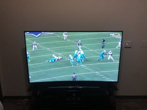 """Samsung 65"""" curved screen ultra HD 4K with TV stand for Sale in McKinney, TX"""