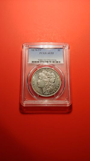 C-C 1878 MORGAN SILVER DOLLAR CC MINT GRADED AU for Sale in Poughkeepsie, NY