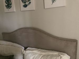 Queen Bed Frame - Grey for Sale in Los Angeles, CA
