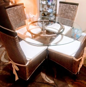 Glass table and four chairs for Sale in West Palm Beach, FL