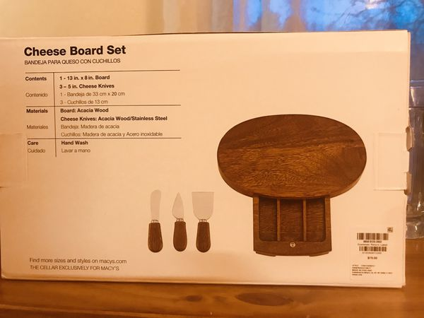Brand new never opened Cheese Board Set paid $80 for it, wine glasses, wine carafe, beer mugs & more!
