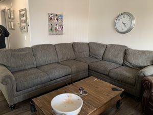 Grey Sectional Couch for Sale in Wildomar, CA