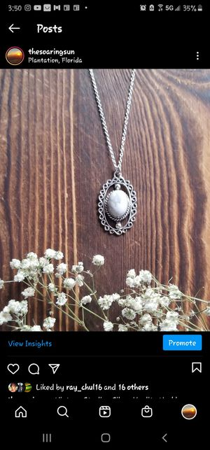 Vintage Sterling Silver Howlite Necklace for Sale in Fort Lauderdale, FL