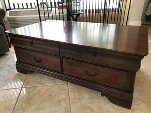 Cocktail table, end table, matching tv stand for Sale in Palm Harbor, FL