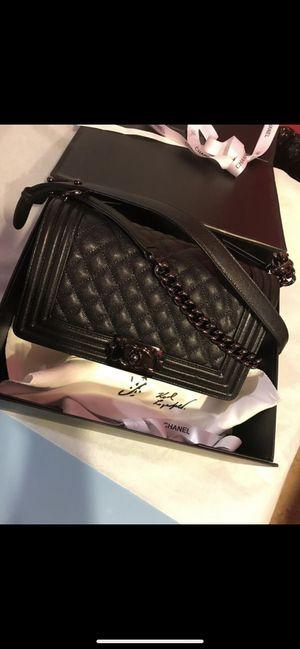 Chanel so black boy bag medium for Sale in Cambridge, MA