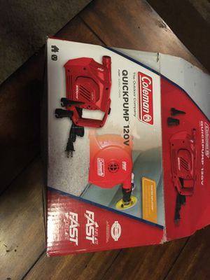 Coleman 120 V quick pump for Sale in Joplin, MO