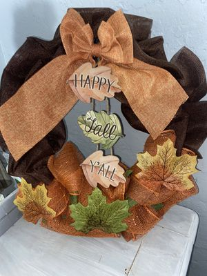 Happy fall y'all 20 inch wreath for Sale in El Cajon, CA