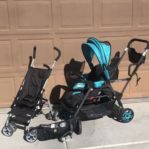 Babytrend Sit N' Stand Stroller Baby Carriage Pram Toddler 2 Seater Lot With Kolcraft Stroller & More Lot for Sale in Henderson, NV