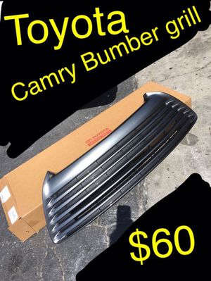 New in the box minor minor stuff. 2017. Fits other years. Toyota Camry bumber grill cover. New. OEM for Sale in Ontario, CA
