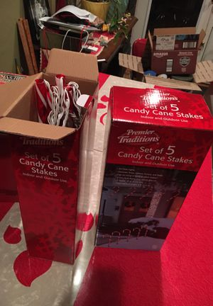 Two boxes of candy canes lights, never used for Sale in Tacoma, WA