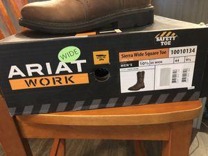 """Ariat work """"Sierra wide square toe"""" steel toe men's 10.5 wide boot for Sale in Riverview, FL"""