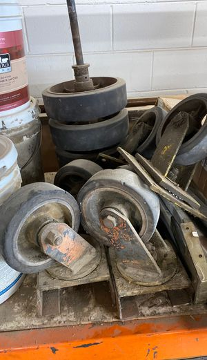 Vintage Industrial cart wheels. for Sale in Whittier, CA