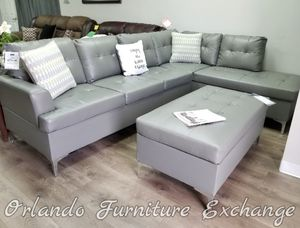 $599 WE DELIVER! BRAND NEW GREY SECTIONAL SOFA for Sale in Oviedo, FL