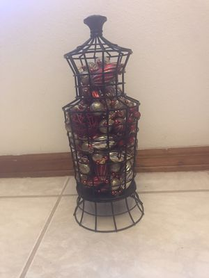 Xmas metal vase / red gold accessories for Sale in Spring Hill, FL