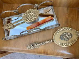 Antique Vanity brush and mirror set for Sale in Portland, OR