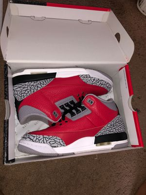 "Retro Jordan 3s ""Red Cement"" for Sale in Waldorf, MD"