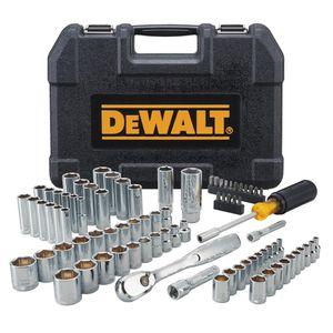 DEWALT 84Pc Mechanics Tool Set Metric Piece Case Kit Socket Wrench for Sale in Worcester, MA