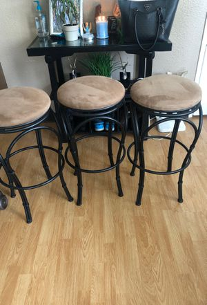 Three bar stools for Sale in Kent, WA