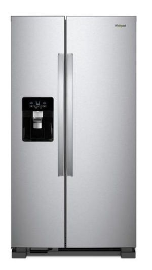 """New side by side refrigerator whirlpool stainless steel w35 3/4"""" for Sale in El Monte, CA"""