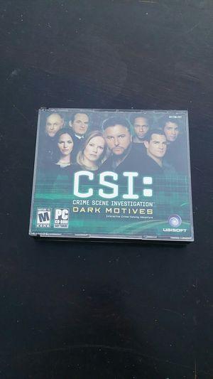 CSI dark motives PC game for Sale in Bakersfield, CA